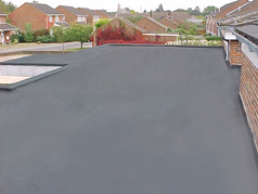 EPDM can be used on any type of flat or gently sloping roof surface including: garages, extensions, balconies, commercial roofs, carports, house roofs, dorma roofs, industrial roofs, gullies, box gutters, vallies