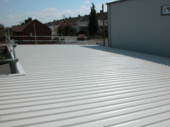 Should the roof need renewing a good solution used by All Roofing and Building is installation of an Overclad Roofing System using Plastic Coated Steel Box Profile Roofing Sheets.